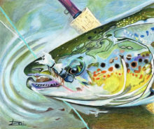 'Atlantic Salmon Dry Fly' by Rosi Oldenburg