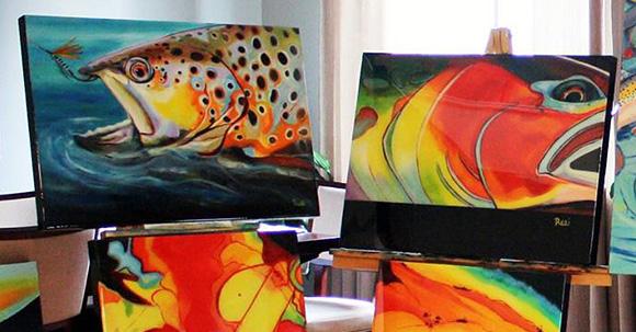 Angling art as canvas prints :: Rosi Oldenburg Fine Art