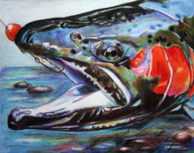 'Hooked Steelhead I' by Rosi Oldenburg
