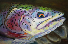 'Leopard Trout' by Rosi Oldenburg
