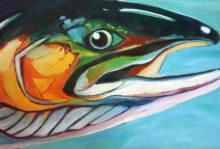 'Salmon I' by Rosi Oldenburg