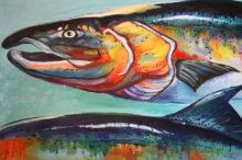 """Salmon II' by Rosi Oldenburg"
