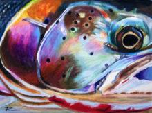 'Steelhead Closeup' by Rosi Oldenburg