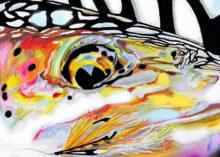 'Steelhead with Streamer' by Rosi Oldenburg