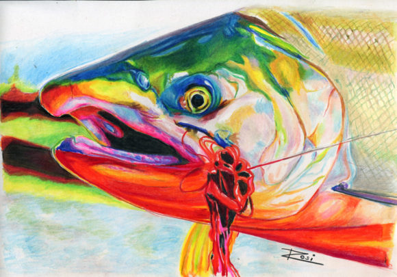 'Coho Salmon' by Rosi Oldenburg