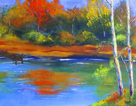 'Fall Lake' by Rosi Oldenburg