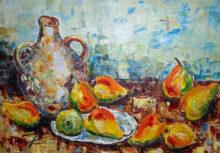 'Nine Pears' by Rosi Oldenburg