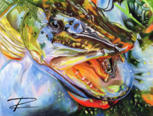 'Pike With Lure II' by Rosi Oldenburg