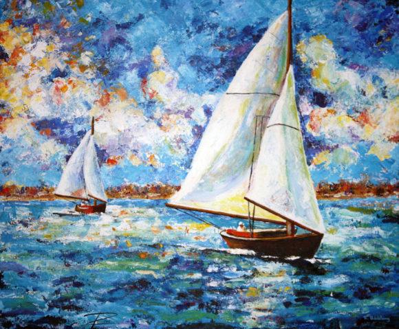 'Sail Boats' by Rosi Oldenburg