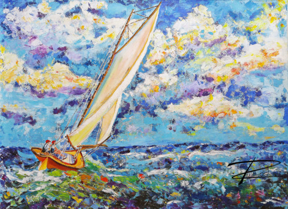 'Sailing the Storm' by Rosi Oldenburg