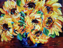 'Sunflowers' by Rosi Oldenburg
