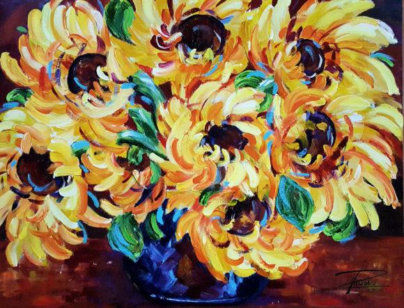'Sunflowers' by Rosi Oldenburg