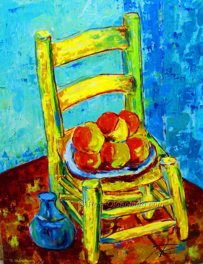 u0027Van Gogh Chairu0027 by Rosi Oldenburg & Van Gogh Chair u2013 Rosi Oldenburg Fine Art